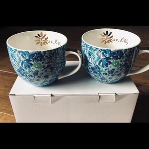 LILY PULITZER-NWT Floral Ceramic Cups